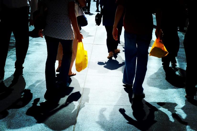 Uso de bolsos plásticos