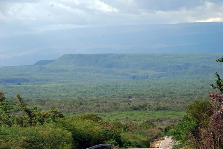 Parque Nacional Jaragua from the road.