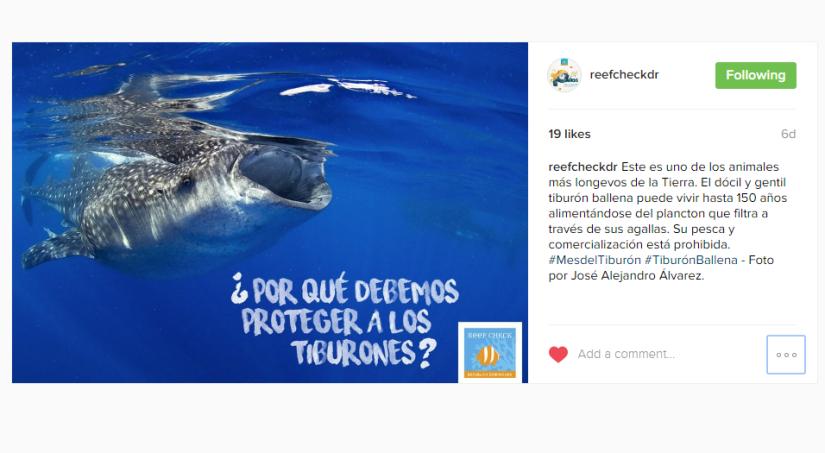 Campaña en redes sociales - Reef Check RD