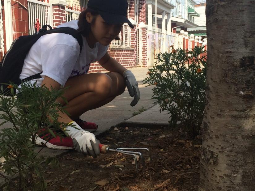 Fue la primera vez que Bella Moon, estudiante de premédica, realizó un voluntariado en servicios ambientales.