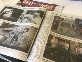 Philadelphia Daily News, el periódico de ciudad, muestra la historia sobre las galerías en una bajada de la portada de la edición del fin de semana.