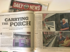 Carrying The Porch is the Big Read of the Philadelphia Daily News this weekend.